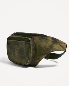 Поясная сумка из ткани с камуфляжным принтом Zara