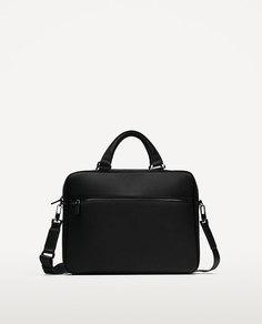 Черный портфель с двумя молниями Zara