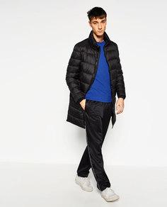Длинное пальто-пуховик Zara