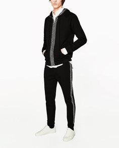 Толстовка с окантовкой в этническом стиле Zara