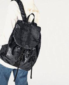 Рюкзак с пайетками Zara