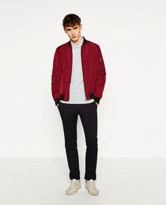 Куртка-бомбер с карманом Zara