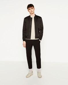 Куртка-бомбер из высокотехнологичной ткани Zara