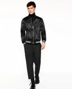 Куртка-бомбер с вышивкой «колибри» Zara