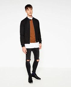 Куртка-бомбер однотонная Zara