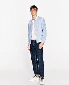 Рубашка в стиле бомбер в полоску Zara