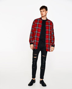 Рубашка в стиле бомбер в клетку Zara