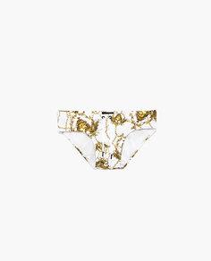 Плавки-слипы с принтом «цепочки» Zara
