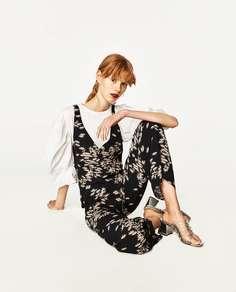 Серебристые туфли-мюли с ремешками из винила Zara