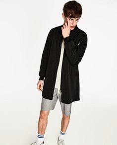 Длинная куртка-бомбер Zara