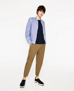Двусторонняя куртка-бомбер в этническом стиле Zara