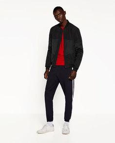 Куртка-бомбер со вставками Zara