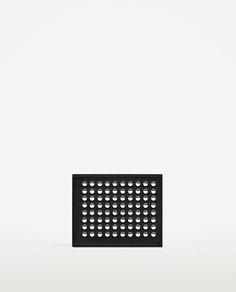 Черный бумажник с заклепками Zara