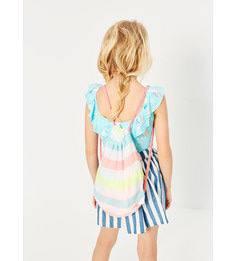 Пляжное полотенце в разноцветную полоску с рюкзаком Zara