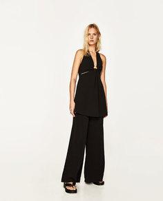 Платье с вырезом халтер Zara