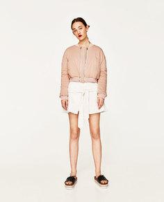 Куртка-бомбер с двумя молниями studio Zara