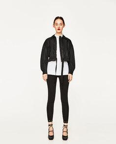 Комбинированная куртка с деталями из трикотажа studio Zara