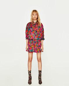 Куртка с цветочным принтом Zara