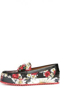 Лоферы Palermo с принтом Dolce & Gabbana