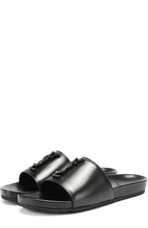 Кожаные шлепанцы Joan с логотипом бренда Saint Laurent