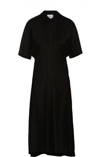 Приталенное платье-рубашка с укороченным рукавом DKNY