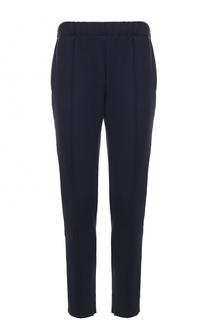Хлопковые брюки прямого кроя с контрастной отделкой Burberry