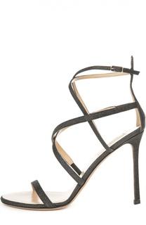 Босоножки Glam с глиттером на шпильке Valentino