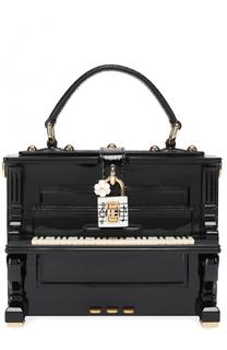 Сумка Dolce Box Piano с отделкой из кожи змеи Dolce & Gabbana