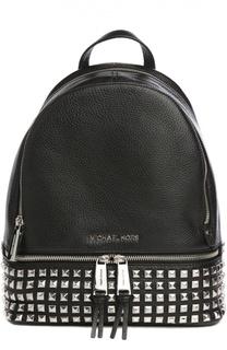Кожаный рюкзак Rhea Zip с заклепками MICHAEL Michael Kors