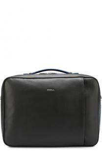 Кожаная сумка для ноутбука с внешним карманом на молнии Furla