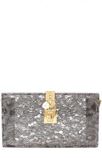 Клатч Dolce Box с кружевом Dolce & Gabbana