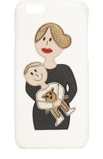 Кожаный чехол для iPhone 6/6S с аппликацией DG Family Dolce & Gabbana