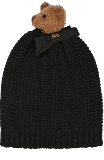 Шерстяная шапка с медведем и кристаллами Swarovski Dolce & Gabbana