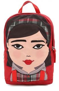 Рюкзак с аппликацией и отделкой из кожи Dolce & Gabbana