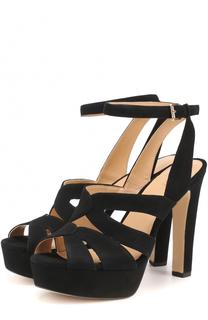 Замшевые босоножки Winona на устойчивом каблуке MICHAEL Michael Kors