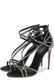 Босоножки со стразами на шпильке Dolce & Gabbana