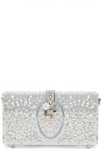 Клатч Dolce Box с отделкой кристаллами Dolce & Gabbana