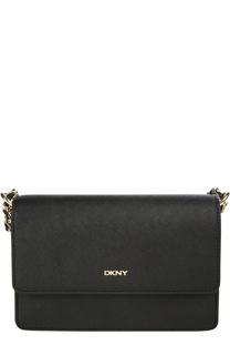 Кожаная сумка на цепочке DKNY