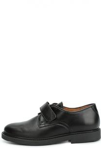 Кожаные туфли с застежкой велькро Beberlis