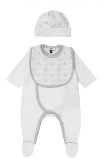 Пижама в комплекте с нагрудником и шапкой Giorgio Armani