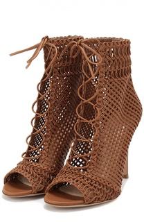 Плетеные босоножки Marnie из кожи на шпильке Gianvito Rossi
