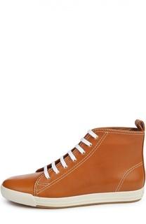 Кожаные кеды Sivanna II на шнуровке Ralph Lauren
