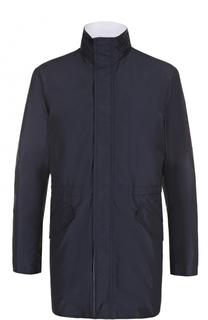 Удлиненная куртка на молнии  с воротником-стойкой Kiton