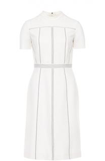 Приталенное мини-платье с контрастной прострочкой Burberry