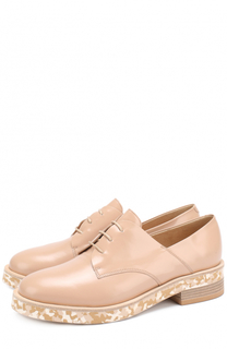 Кожаные ботинки на подошве с принтом Vic Matie