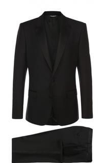 Шерстяной смокинг с отделкой из шелка Dolce & Gabbana