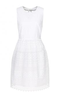 Кружевное мини-платье с карманами No. 21