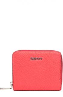 Кожаное портмоне с логотипом бренда DKNY
