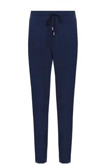 Шерстяные брюки прямого кроя с поясом на резинке Canali