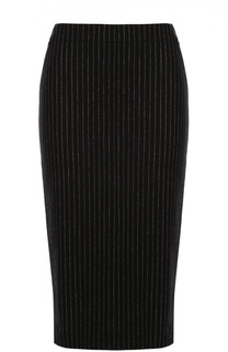 Вязаная юбка-карандаш в полоску DKNY